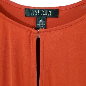 Lauren Ralph Lauren burnt orange sleeveless tunic